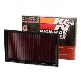 K&N Filters  33-3036 Luftfilter Länge: 371mm, Breite: 214mm, Höhe: 34mm