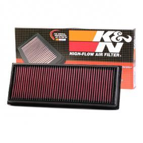 K&N Filters  33-3039 Luftfilter Länge: 349mm, Breite: 135mm, Höhe: 30mm