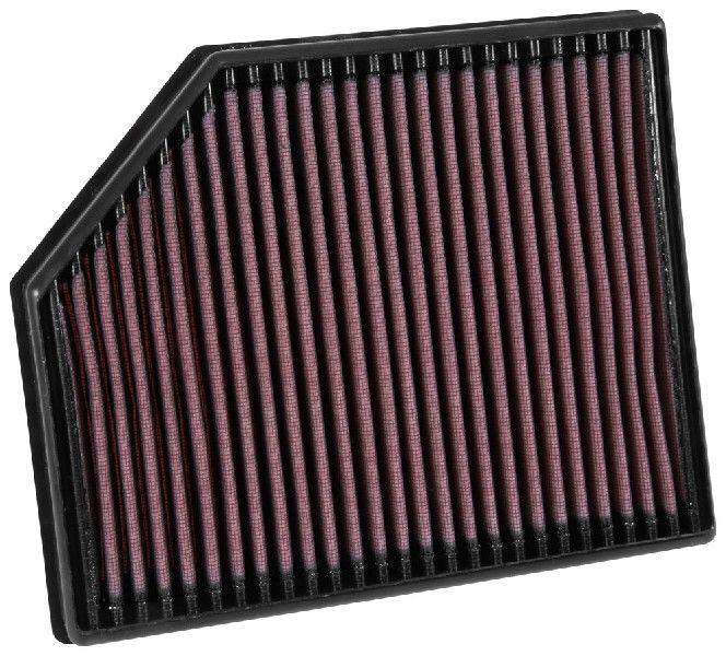 K&N Filters  33-3065 Luftfilter Länge: 281mm, Breite: 233mm, Höhe: 41mm, Länge: 281mm