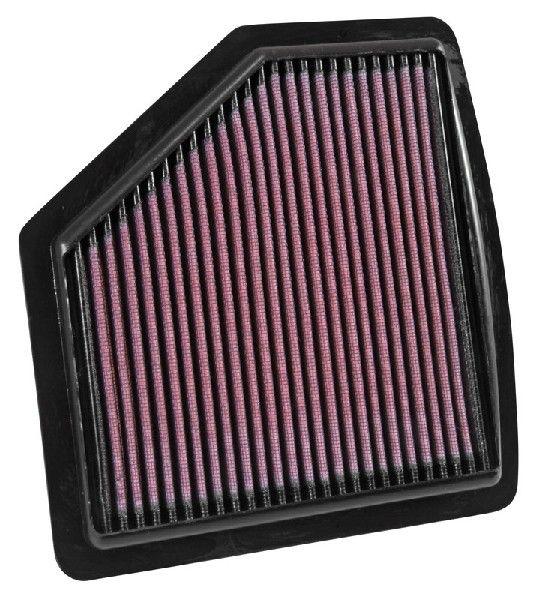 K&N Filters  33-5037 Luftfilter Länge: 230mm, Breite: 217mm, Höhe: 25mm, Länge: 230mm