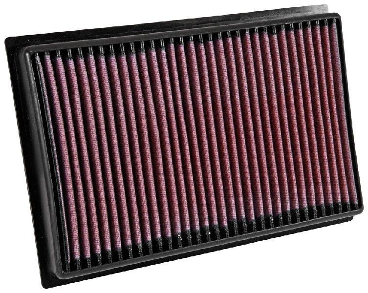 K&N Filters  33-5039 Luftfilter Länge: 306mm, Breite: 208mm, Höhe: 41mm, Länge: 306mm