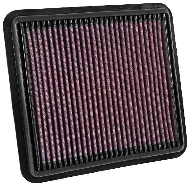 K&N Filters  33-5042 Luftfilter Länge: 229mm, Breite: 214mm, Höhe: 26mm, Länge: 229mm