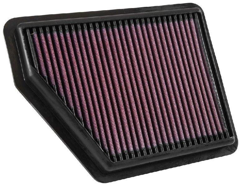 K&N Filters  33-5045 Luftfilter Länge: 236mm, Breite: 183mm, Höhe: 27mm, Länge: 236mm