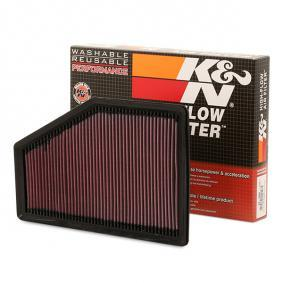 K&N Filters  33-5049 Air Filter Length: 348mm, Width: 230mm, Height: 26mm