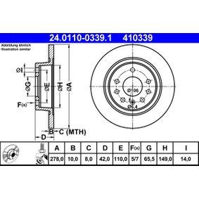 Bremsscheibe 24.0110-0339.1 ZAFIRA B (A05) 1.7 CDTI (M75) Bj 2009