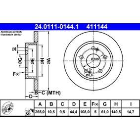 Bremsscheibe 24.0111-0144.1 Scénic 1 (JA0/1_, FA0_) 1.9 dCi RX4 Bj 2003