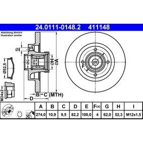 Bremsscheibe Art. Nr. 24.0111-0148.2 120,00€