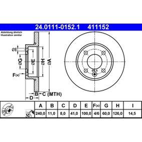 Steuergehäusedichtung für OPEL CORSA C (F08, F68) 1.2 75 PS ab Baujahr 09.2000 ATE Bremsscheibe (24.0111-0152.1) für
