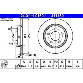 Disco de freno 24.0111-0160.1 3 (BK) 2.3 MZR ac 2005