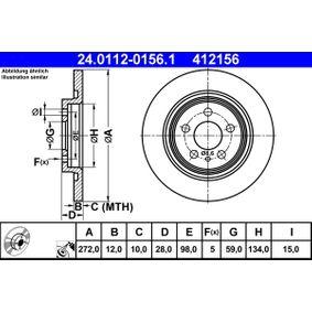Bremsscheibe Bremsscheibendicke: 12,0mm, Lochanzahl: 5, Ø: 272,0mm mit OEM-Nummer 42.46.P4