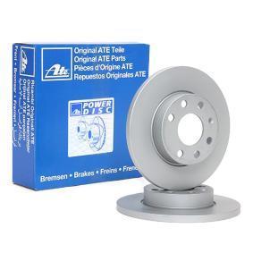 ATE Disco de travão 24.0113-0161.1 com códigos OEM 569030