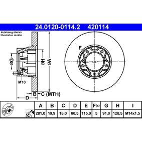 Bremsscheibe Art. Nr. 24.0120-0114.2 120,00€