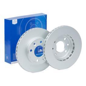 ATE  24.0120-0125.1 Bremsscheibe Bremsscheibendicke: 20,1mm, Lochanzahl: 4, Ø: 238,0mm