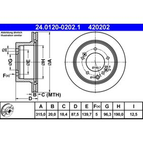 Brake Disc 24.0120-0202.1 SORENTO 1 (JC) 3.5 MY 2003