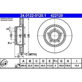Bremsscheibe Art. Nr. 24.0122-0120.1 120,00€