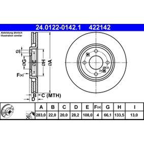 Bremsscheibe Art. Nr. 24.0122-0142.1 120,00€