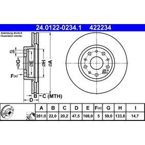 Bremsscheibe Art. Nr. 24.0122-0234.1 120,00€