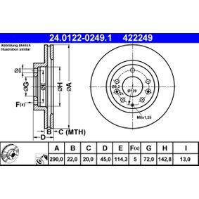 Bremsscheibe Art. Nr. 24.0122-0249.1 120,00€
