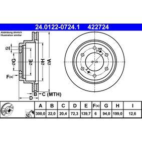 Disco de freno 24.0122-0724.1 PAJERO 3 (V7W, 56W) 3.8 (V67W) ac 2005