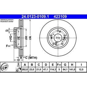 Brake Disc 24.0123-0109.1 CR-V 2 (RD) 2.0 MY 2003