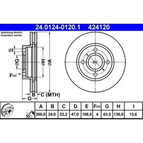 Bremsscheibe Art. Nr. 24.0124-0120.1 120,00€