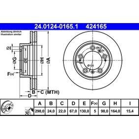 Bremsscheibe Bremsscheibendicke: 24,0mm, Lochanzahl: 5, Ø: 298,0mm mit OEM-Nummer 986 351 401 05