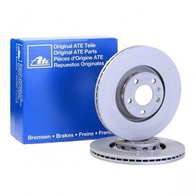 ATE Bremsscheibe 24.0125-0137.1 für AUDI A4 Cabriolet (8H7, B6, 8HE, B7) 3.2 FSI ab Baujahr 01.2006, 255 PS
