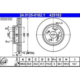 Brake Disc 24.0125-0182.1 CR-V 2 (RD) 2.0 MY 2006