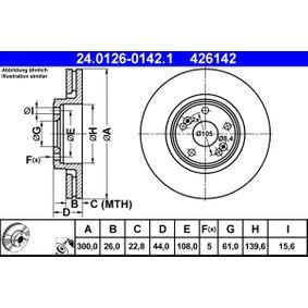 Bremsscheibe 24.0126-0142.1 Scénic 1 (JA0/1_, FA0_) 2.0 16V RX4 Bj 2001