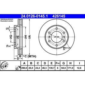 Disco de freno 24.0126-0145.1 PAJERO 3 (V7W, 56W) 3.8 (V67W) ac 2007