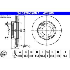 Brake Disc 24.0128-0200.1 SORENTO 1 (JC) 3.5 MY 2004