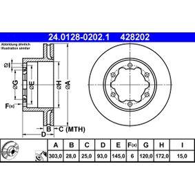 Bremsscheibe 24.0128-0202.1 CRAFTER 30-50 Kasten (2E_) 2.5 TDI Bj 2009