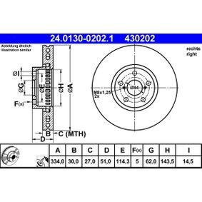 Disque de frein N° de référence 24.0130-0202.1 120,00€