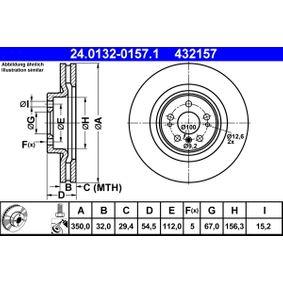 Спирачен диск дебелина на спирачния диск: 32,0мм, брой на дупките: 5, Ø: 350,0мм с ОЕМ-номер 1644210512
