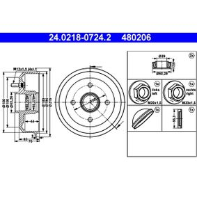 Brake Drum Outer Br. Sh. Diameter: 216,0mm with OEM Number 4 034 886