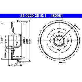 Tambor de freno Diám. ext. tambor: 234,0mm con OEM número 77003-04984