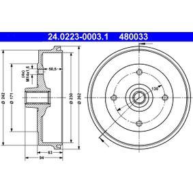 Bremstrommel Br.Tr.Durchmesser außen: 262,0mm mit OEM-Nummer 113 501 615J