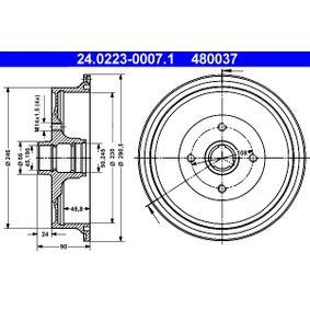 Bremstrommel Br.Tr.Durchmesser außen: 290,5mm mit OEM-Nummer 443.501.615