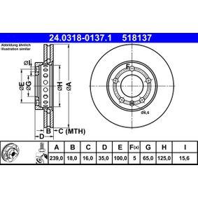 Polo 9n 1.6 Flex Scheibenwischerarm ATE PowerDisc 24.0318-0137.1 (1.6 Flex Benzin/Ethanol 2009 CCRA)