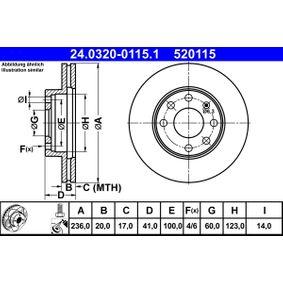 Bremsscheibe Art. Nr. 24.0320-0115.1 120,00€