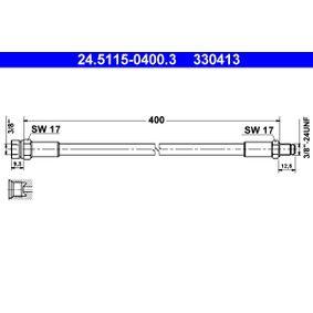 """Bremsschlauch Länge: 400mm, Innengewinde: 3/8""""mm, Außengewinde: 3/8""""-24UNFmm mit OEM-Nummer 7704 001 925"""