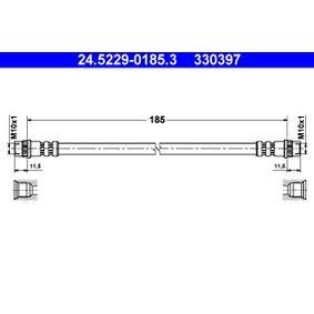 Bremsschlauch Länge: 185mm, Innengewinde 2: M10x1mm mit OEM-Nummer 8200572102