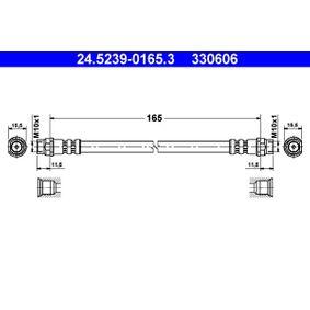 Bremsschlauch Länge: 165mm, Innengewinde 1: M10x1mm, Innengewinde 2: M10x1mm mit OEM-Nummer 7700 416 273