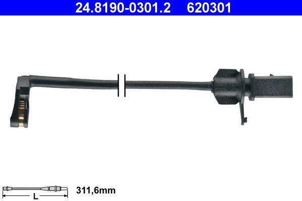 ATE  24.8190-0301.2 Warnkontakt, Bremsbelagverschleiß Warnkontaktlänge: 311,6mm