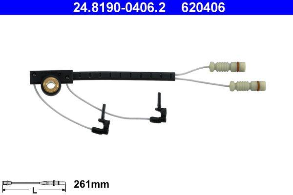 ATE  24.8190-0406.2 Warnkontakt, Bremsbelagverschleiß Warnkontaktlänge: 261mm