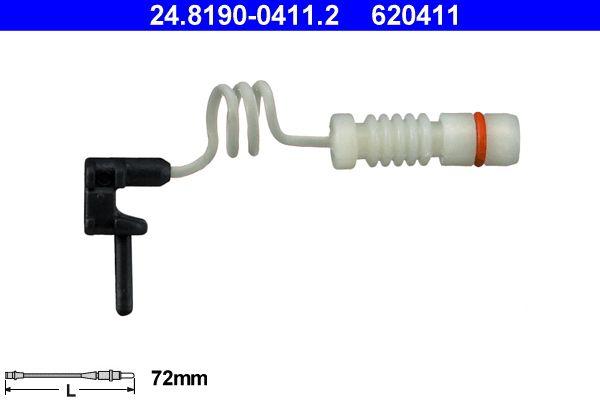 ATE  24.8190-0411.2 Contacto de aviso, desgaste de los frenos Long. contacto de aviso: 72mm
