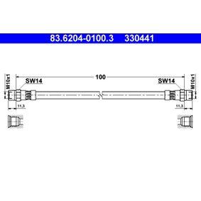 Bremsschlauch 83.6204-0100.3 5 Touring (E39) 523i 2.5 Bj 2000