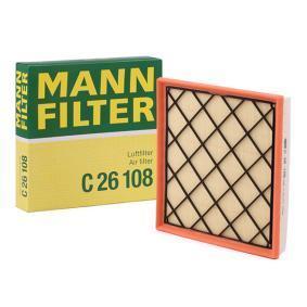 MANN-FILTER  C 26 108 Въздушен филтър дължина: 256мм, ширина: 250мм, височина: 45мм