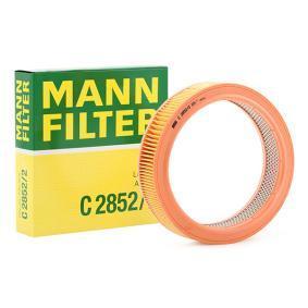 MANN-FILTER Luftfilter C 2852/2 für AUDI 100 (44, 44Q, C3) 1.8 ab Baujahr 02.1986, 88 PS