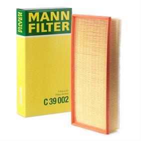 MANN-FILTER Luftfilter C 39 002 für AUDI Q7 (4L) 3.0 TDI ab Baujahr 11.2007, 240 PS